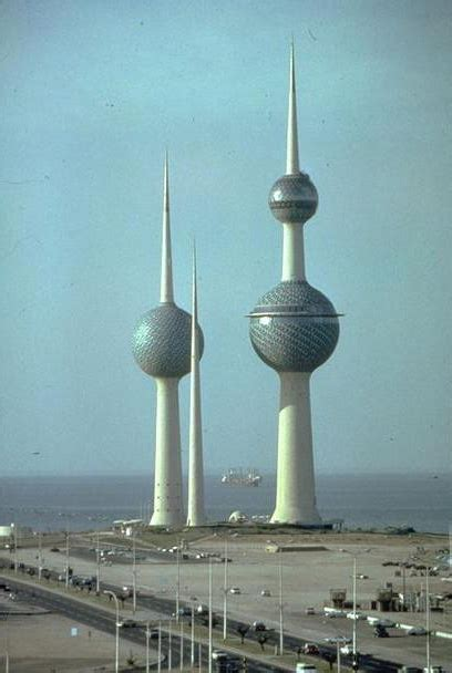 Water Towers | The Kuwait Tower is a water tower that also