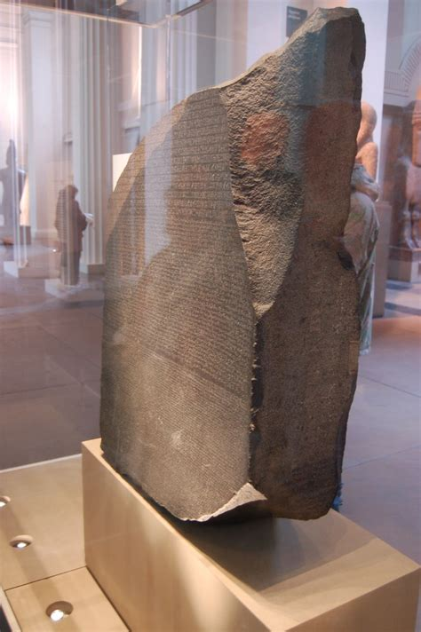 Rosetta Stone at the British Museum   Pasting from the
