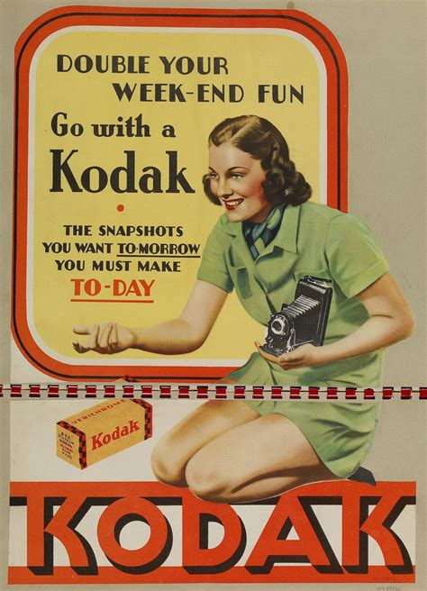 Poster - 'Double Your Week-End Fun, Go with a Kodak', 1930s