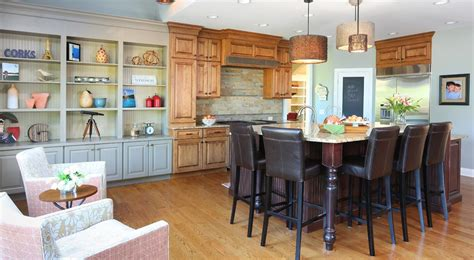 Open Kitchen with Casual Seating Area : Normandy Remodeling