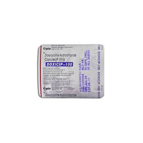 Doxycycline, 10, Packaging Type: Strips, Rs 18 /tablet, S