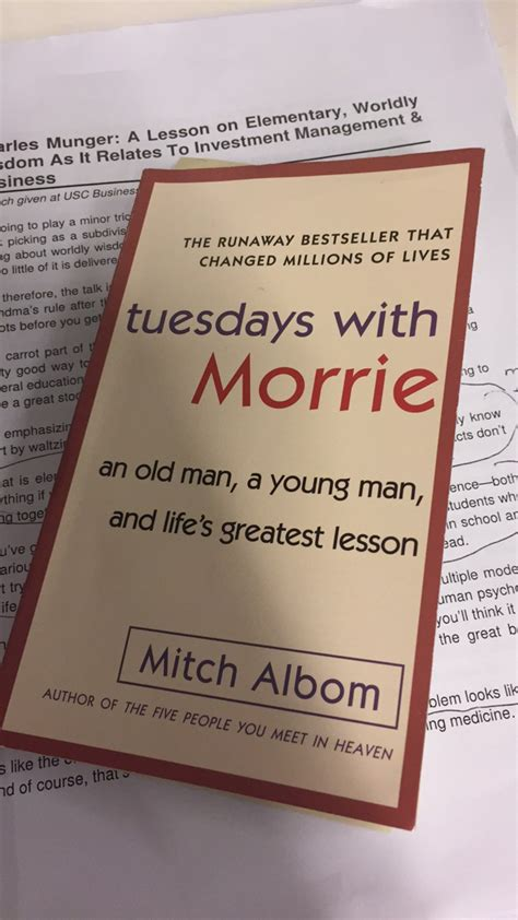 Tuesdays With Morrie Review: Lessons on Life - Ignore Limits