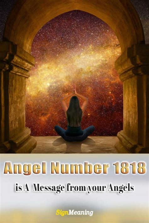 Angel Number 1818 Meaning and Symbolism > Sign Meaning in