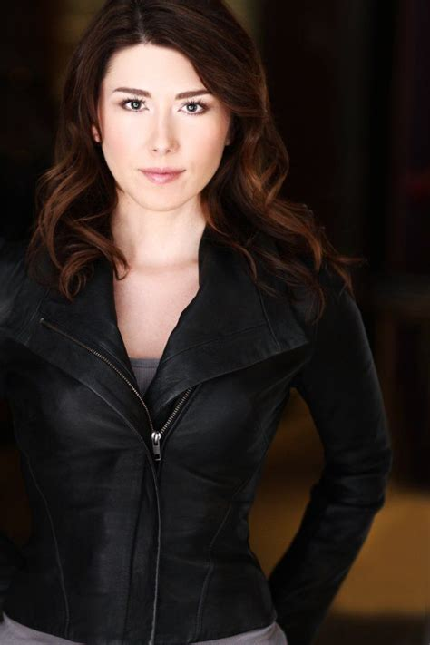 Jewel Staite Love this leather jacket