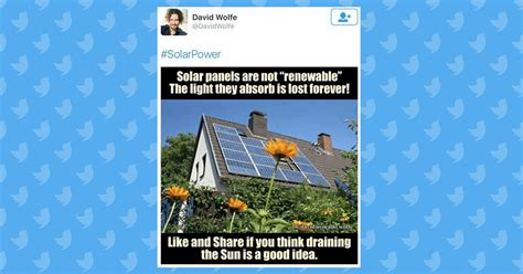 Did David 'Avocado' Wolfe Post a Meme About Solar Panels