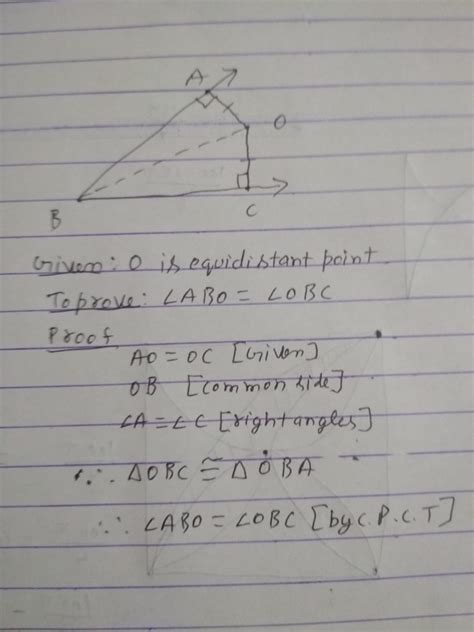 How to prove that any point on the bisector of an angle is