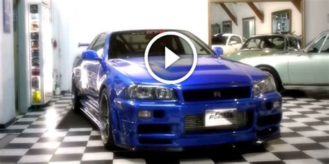 MUST SEE! Legendary FAST AND FURIOUS BLUE NISSAN SKYLINE