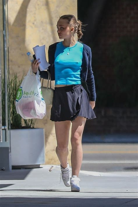 Lily-Rose Depp in Mini Skirt - Out in Beverly Hills 05/20