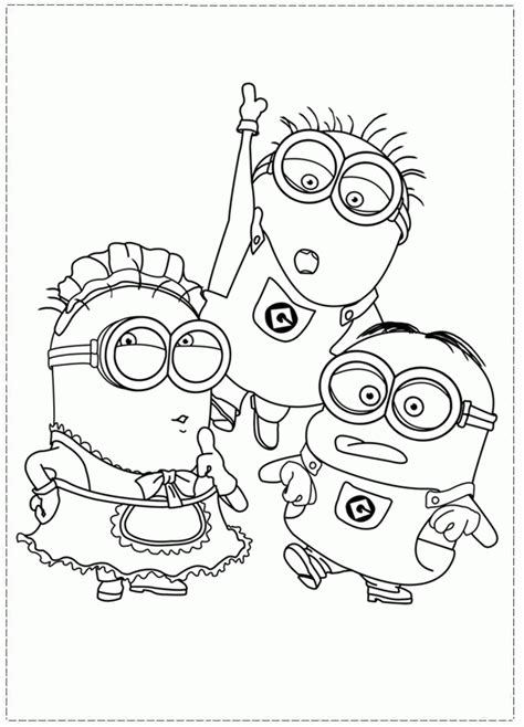 Despicable Me Printable Coloring Pages - Coloring Home