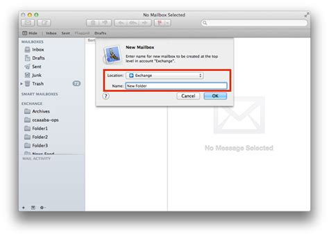 Create a new folder in Mac Mail | Information Services