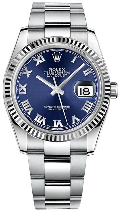 Rolex DateJust 116234 Blue Dial with Roman Numerals Watch