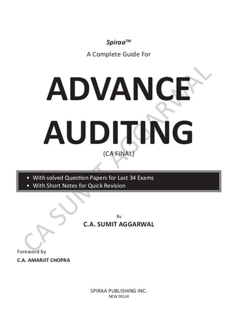 Advance Auditing & Professional Ethics by Sumit Aggarwal