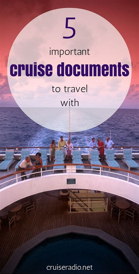 5 Important Cruise Documents to Travel With | Cruise