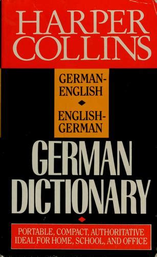 Harper Collins German dictionary (1991 edition) | Open Library