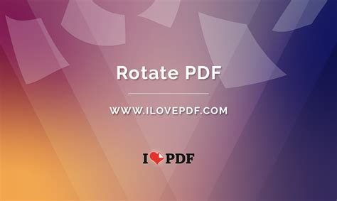 Rotate PDF online for free