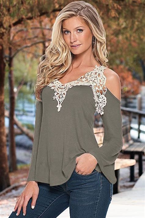 Off The Shoulder Gray Women Going Out Tops - Online Store