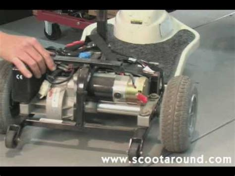 How to Disassemble a Shoprider Scooter for Transport - YouTube