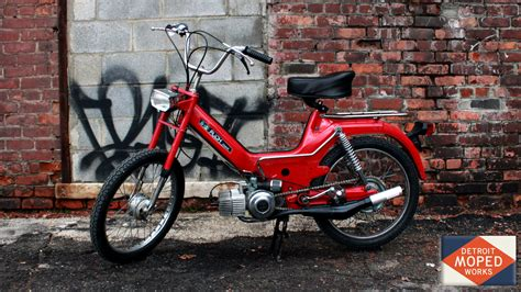 1974 Red Puch Maxi Fully Restored with 70cc motor (SOLD