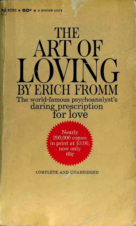 The Art of Loving (1956) by Erich Fromm [Chap