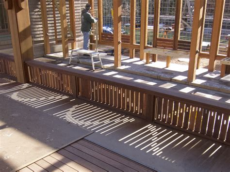 A Railing in Light and Shadow | Professional Deck Builder