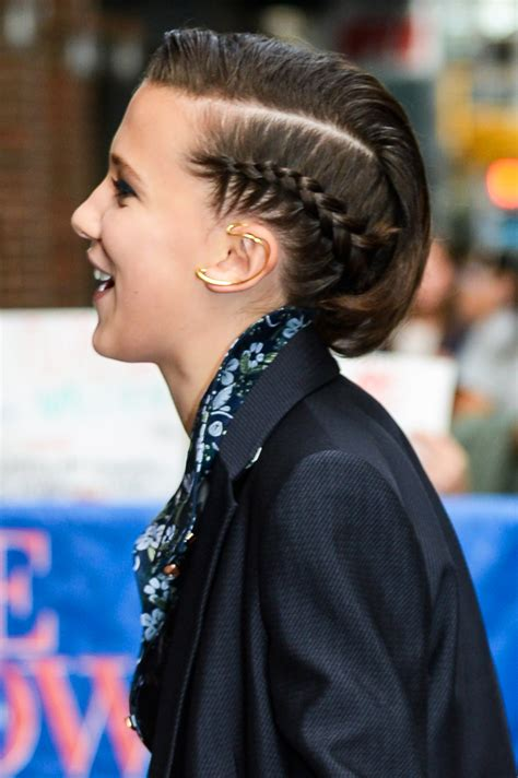 Millie Bobby Brown's Side Braid at 'The Late Show with