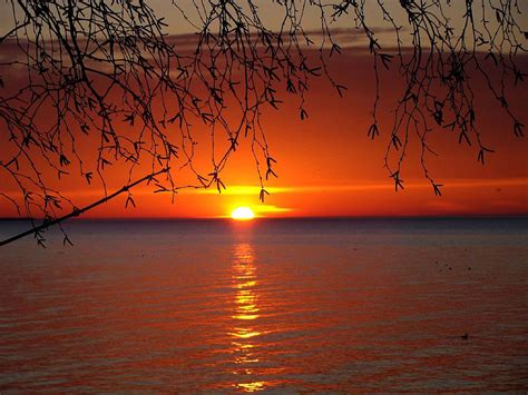 Great Lakes Sunset Free Stock Photo - Public Domain Pictures
