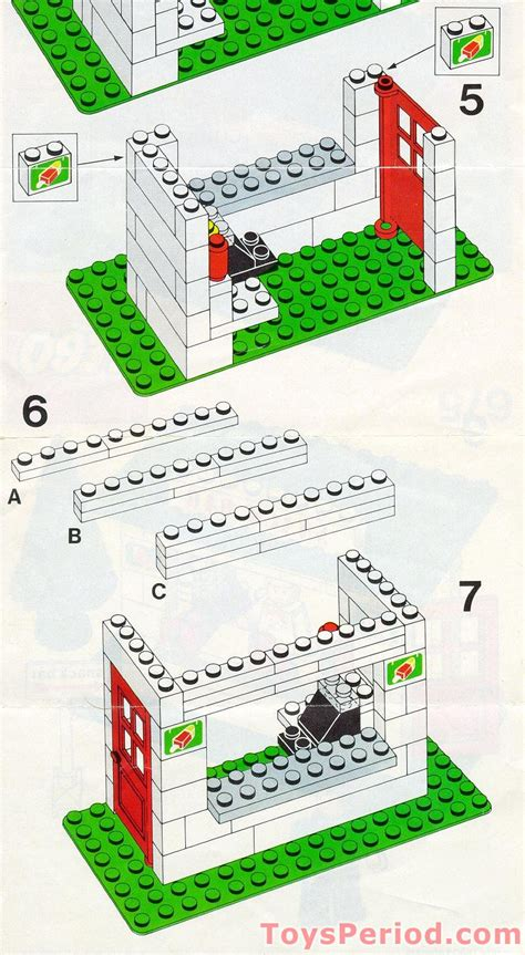 LEGO 675 Snack Bar Set Parts Inventory and Instructions