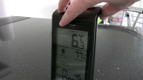 Oregon Scientific BAR808 Weather Station - Quick Look in