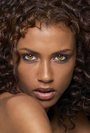 The Perfect Human Face: Faces with Dark Skin and Light Eyes