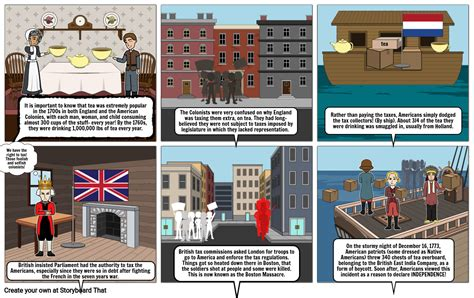 Boston Tea Party Storyboard by 35223d5c