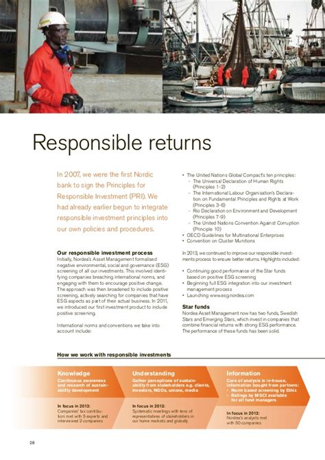 Responsible investment & governance annual report 2013