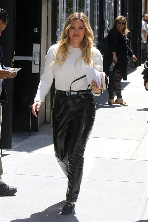 """Hilary Duff is seen on the set of """"Younger"""" - Leather"""