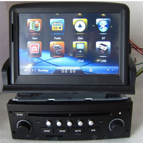 Touch screen 2 din car dvd gps for Peugeot 307 with radio